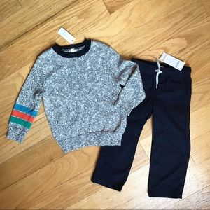 NWT Gymboree Navy Pants And Sweater